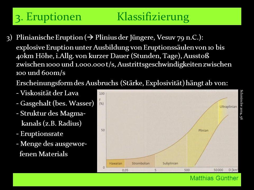 3. Eruptionen Klassifizierung