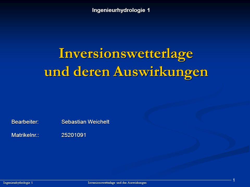 Inversionswetterlage und deren Auswirkungen
