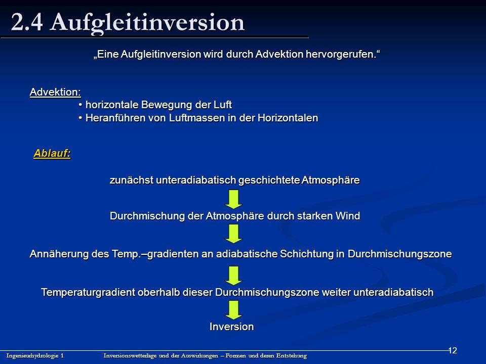 """""""Eine Aufgleitinversion wird durch Advektion hervorgerufen."""