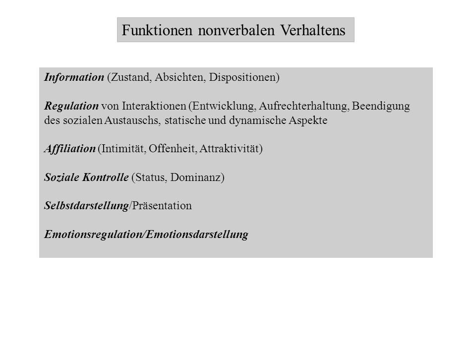 Funktionen nonverbalen Verhaltens