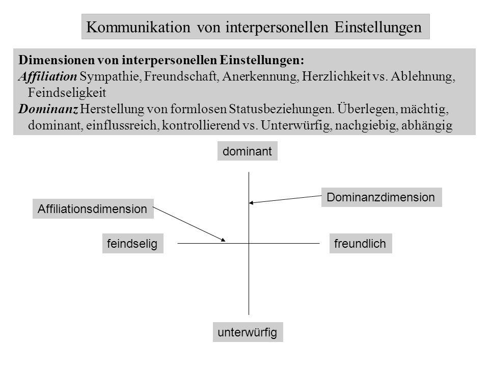 Kommunikation von interpersonellen Einstellungen
