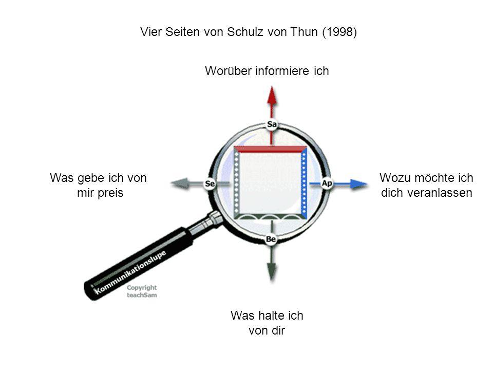 Vier Seiten von Schulz von Thun (1998)
