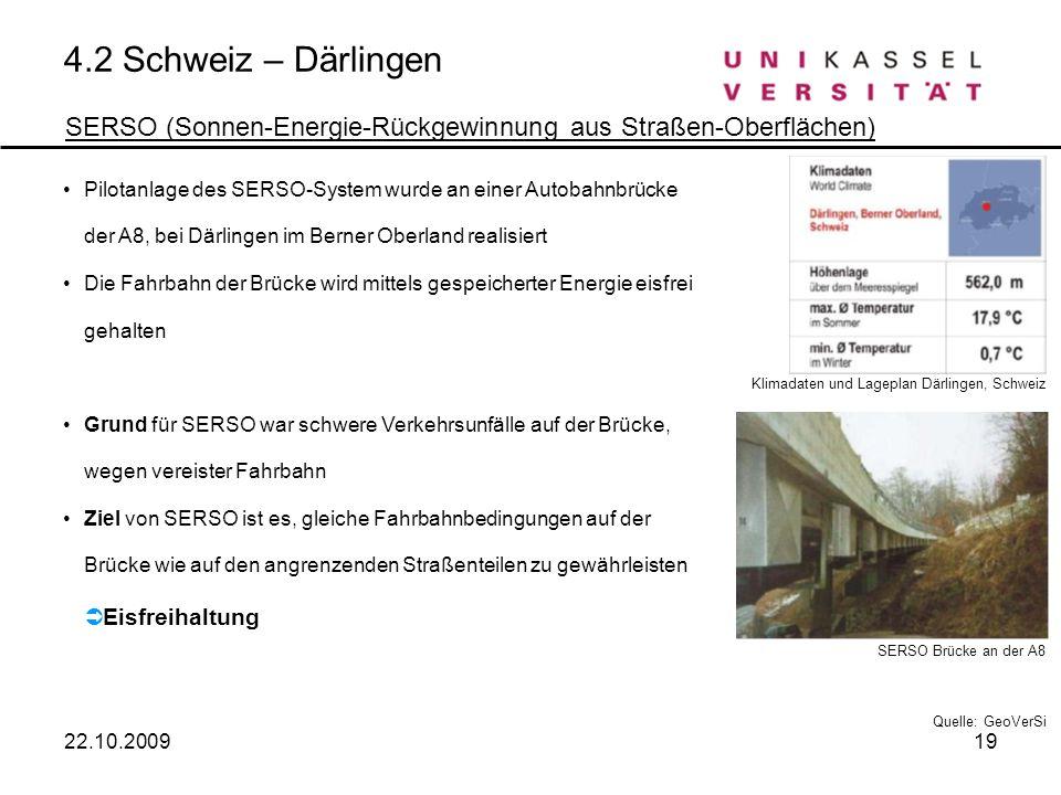 4.2 Schweiz – Därlingen SERSO (Sonnen-Energie-Rückgewinnung aus Straßen-Oberflächen)
