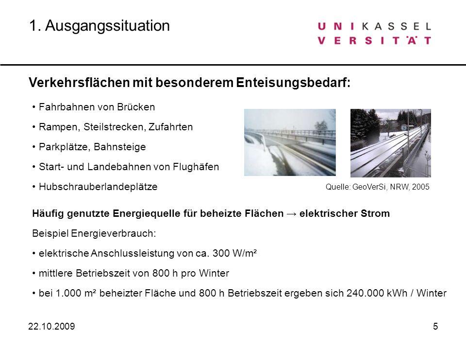 1. Ausgangssituation Verkehrsflächen mit besonderem Enteisungsbedarf: