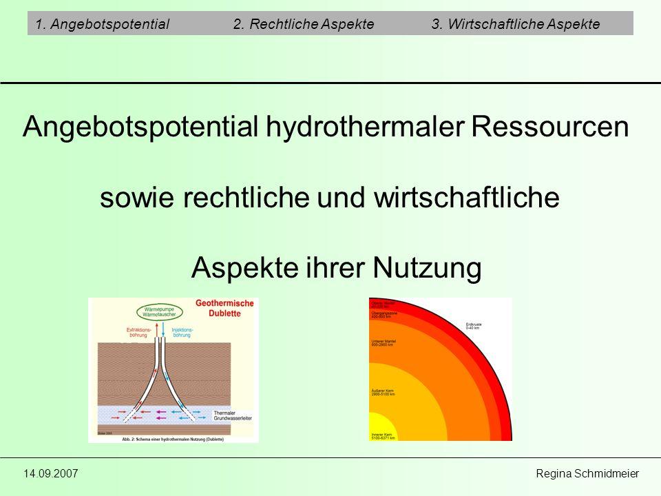 Angebotspotential hydrothermaler Ressourcen