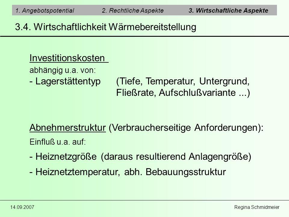 3.4. Wirtschaftlichkeit Wärmebereitstellung