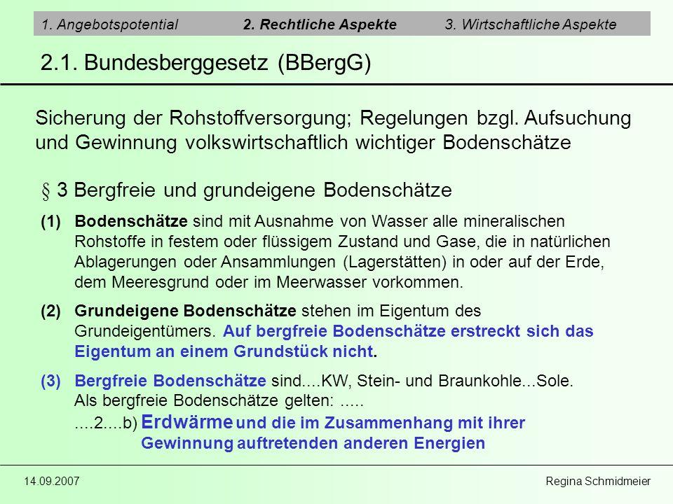 2.1. Bundesberggesetz (BBergG)