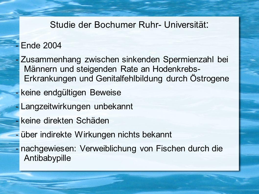 Studie der Bochumer Ruhr- Universität: