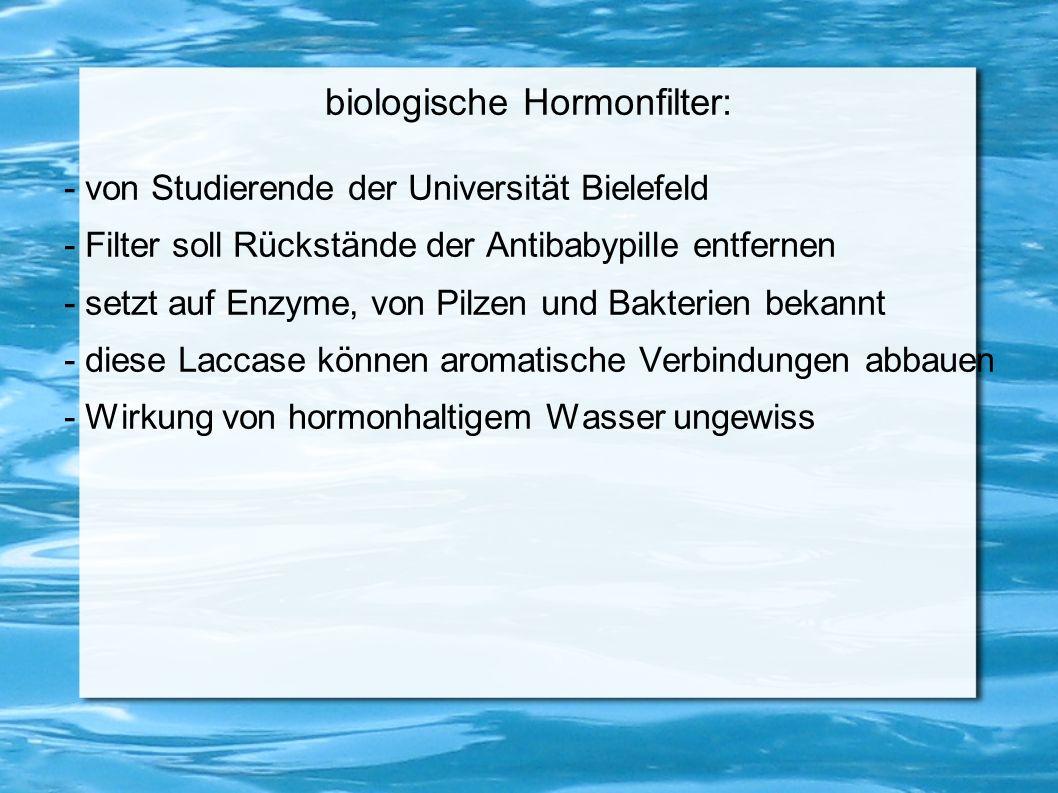 biologische Hormonfilter: