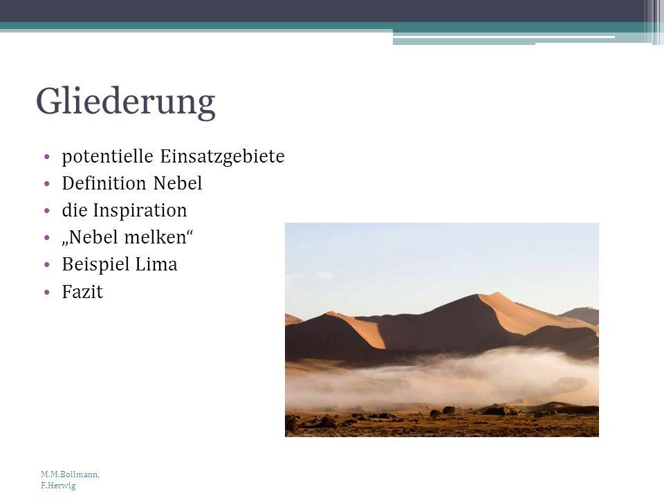 Gliederung potentielle Einsatzgebiete Definition Nebel die Inspiration