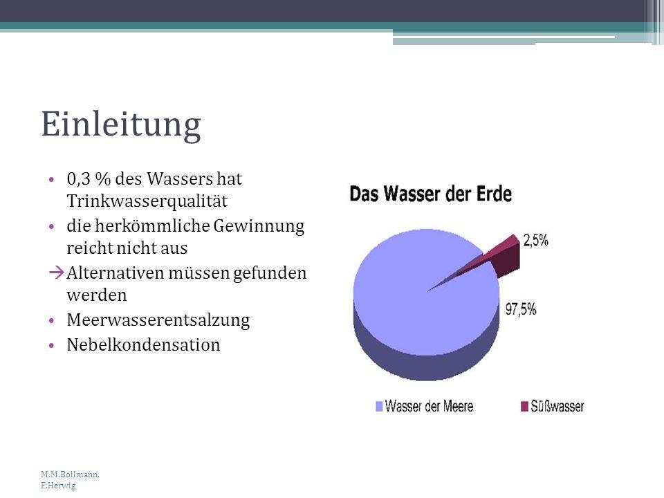 Einleitung 0,3 % des Wassers hat Trinkwasserqualität