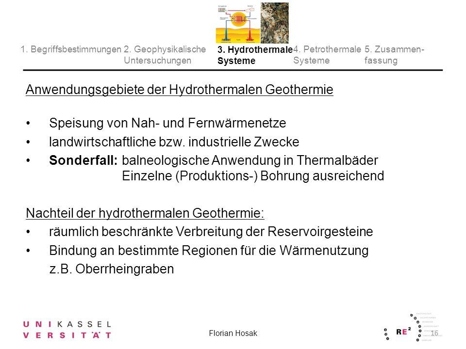 Anwendungsgebiete der Hydrothermalen Geothermie