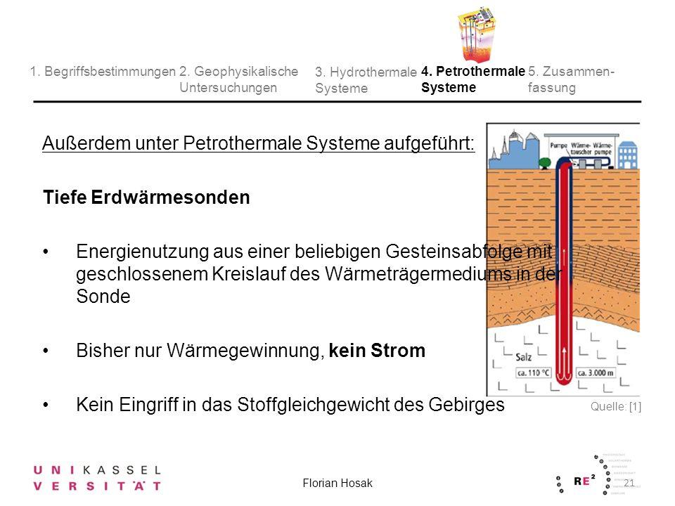 Außerdem unter Petrothermale Systeme aufgeführt: Tiefe Erdwärmesonden