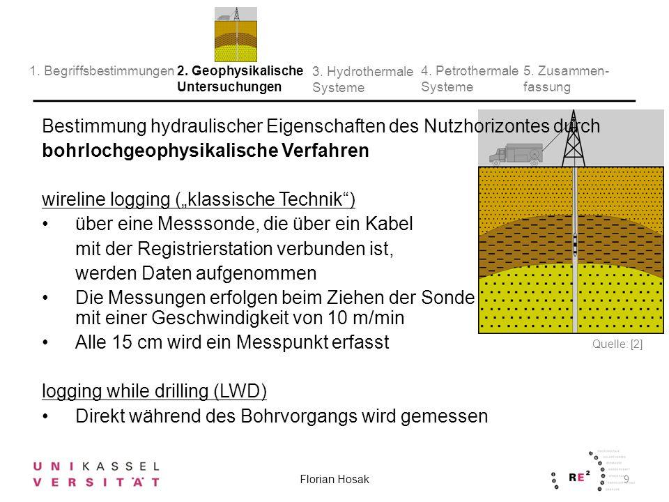 Bestimmung hydraulischer Eigenschaften des Nutzhorizontes durch