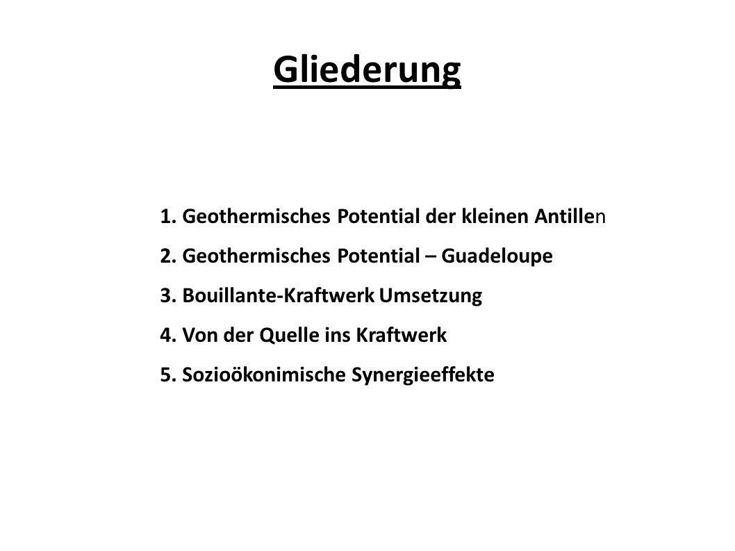 Gliederung 1. Geothermisches Potential der kleinen Antillen