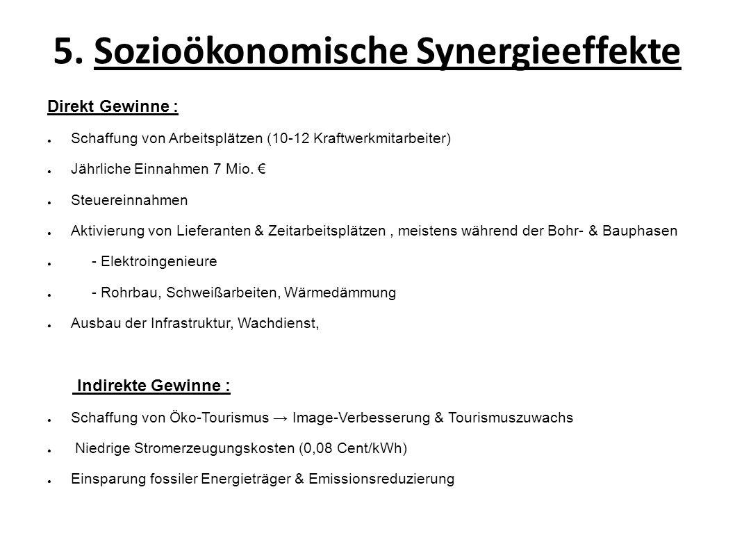 5. Sozioökonomische Synergieeffekte