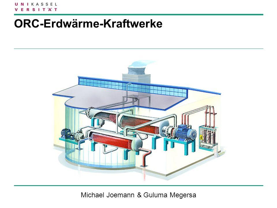 ORC-Erdwärme-Kraftwerke