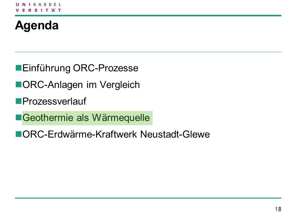 Agenda Einführung ORC-Prozesse ORC-Anlagen im Vergleich Prozessverlauf