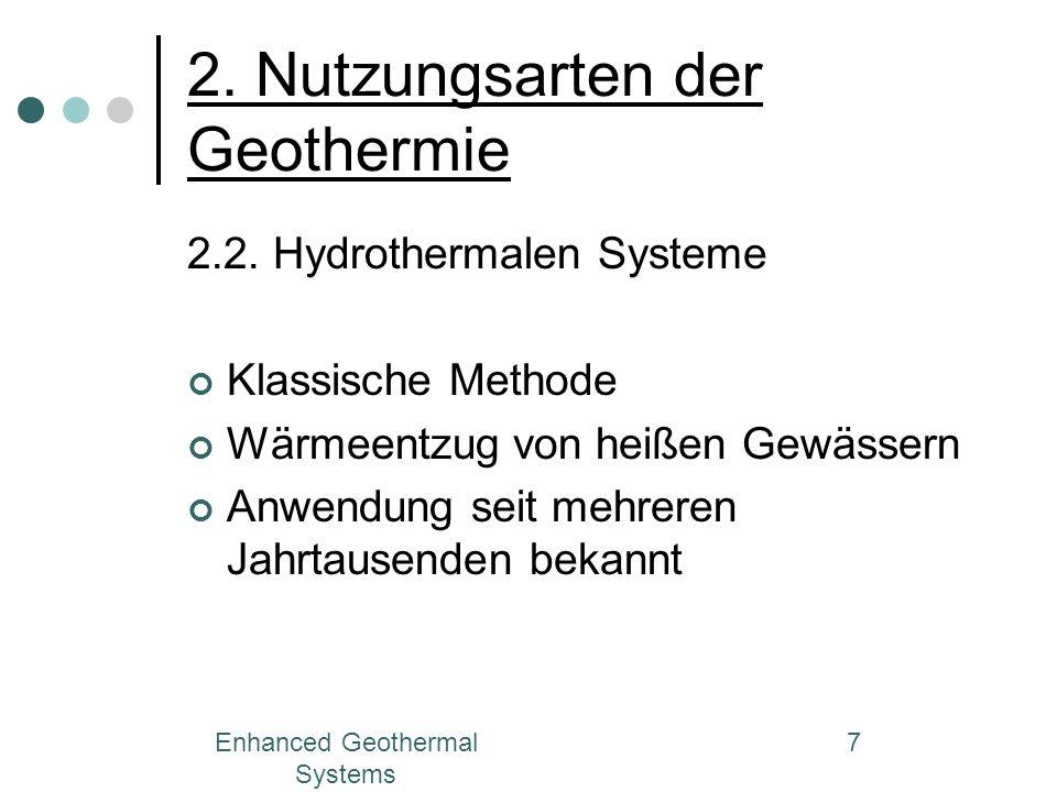 2. Nutzungsarten der Geothermie