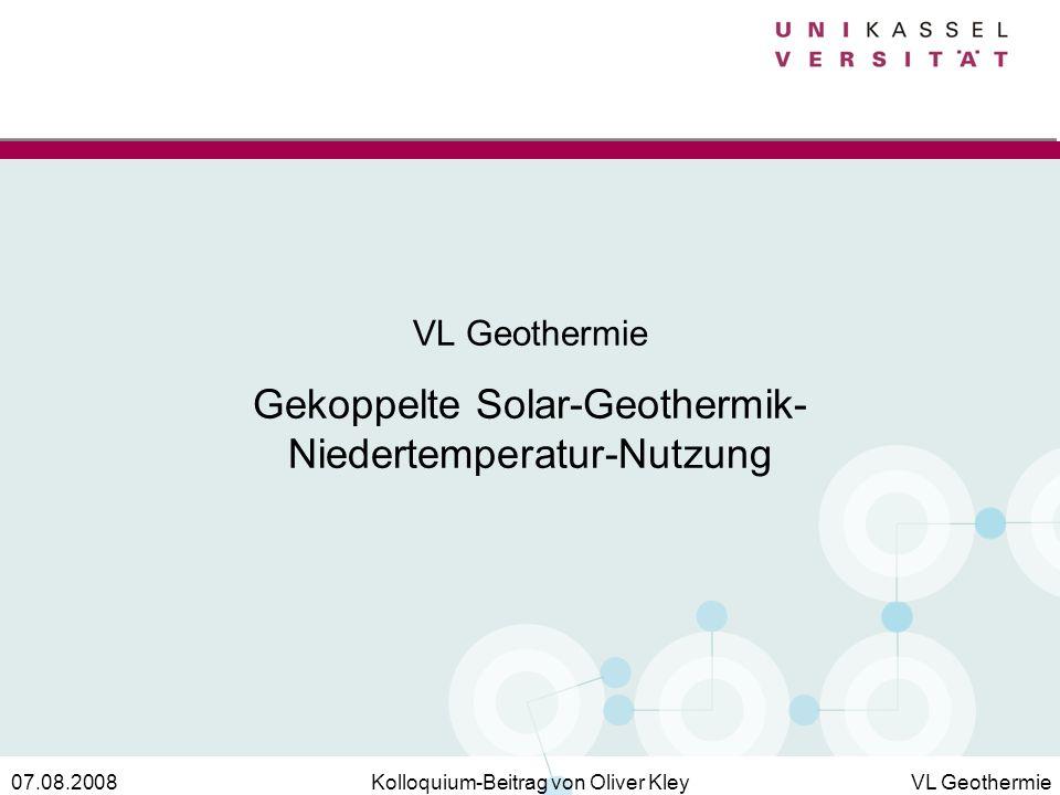 VL Geothermie Gekoppelte Solar-Geothermik-Niedertemperatur-Nutzung