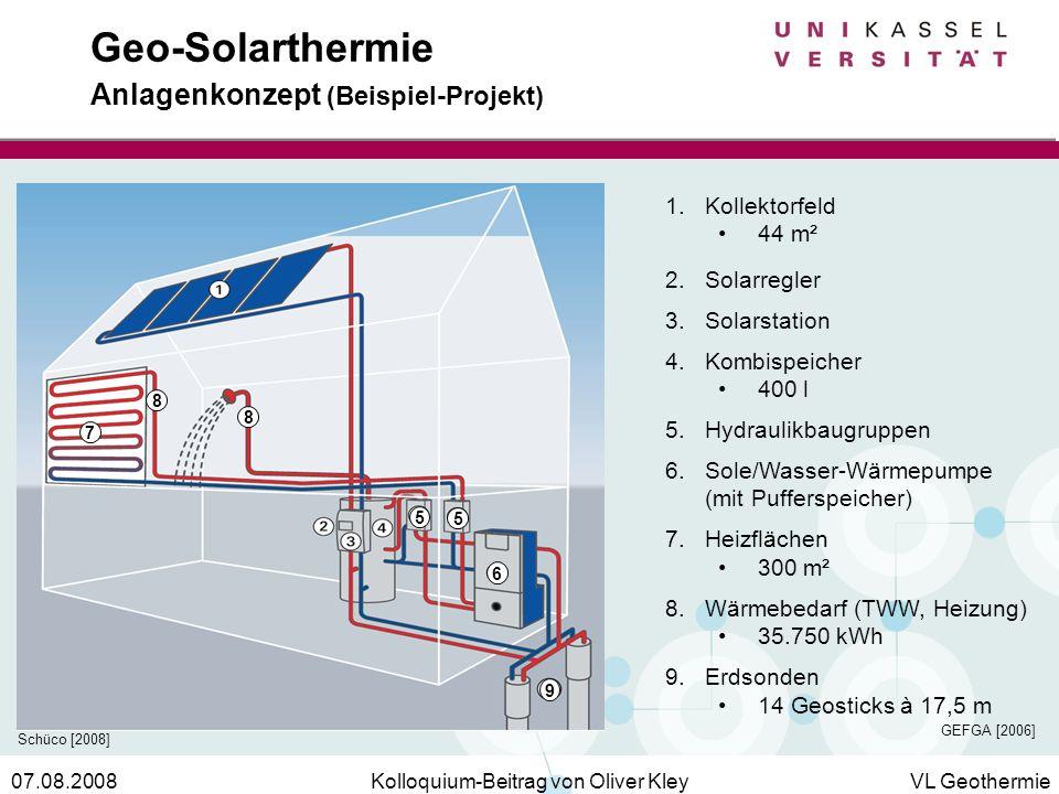 Geo-Solarthermie Anlagenkonzept (Beispiel-Projekt)
