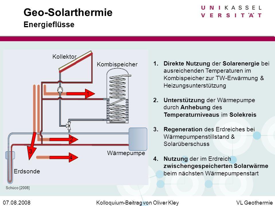 Geo-Solarthermie Energieflüsse