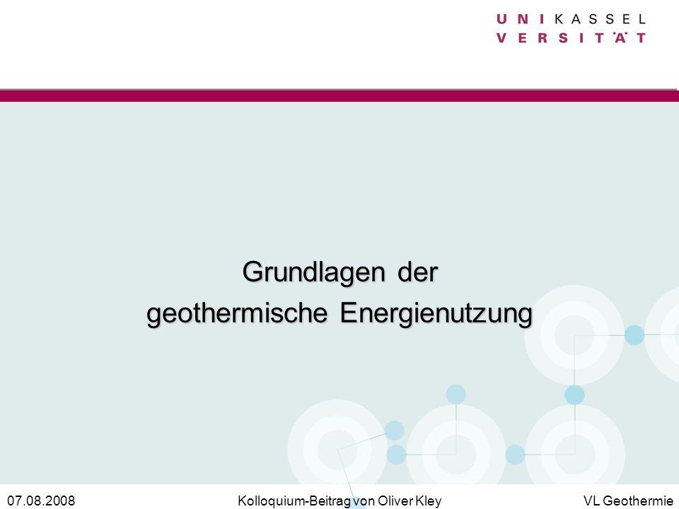 geothermische Energienutzung