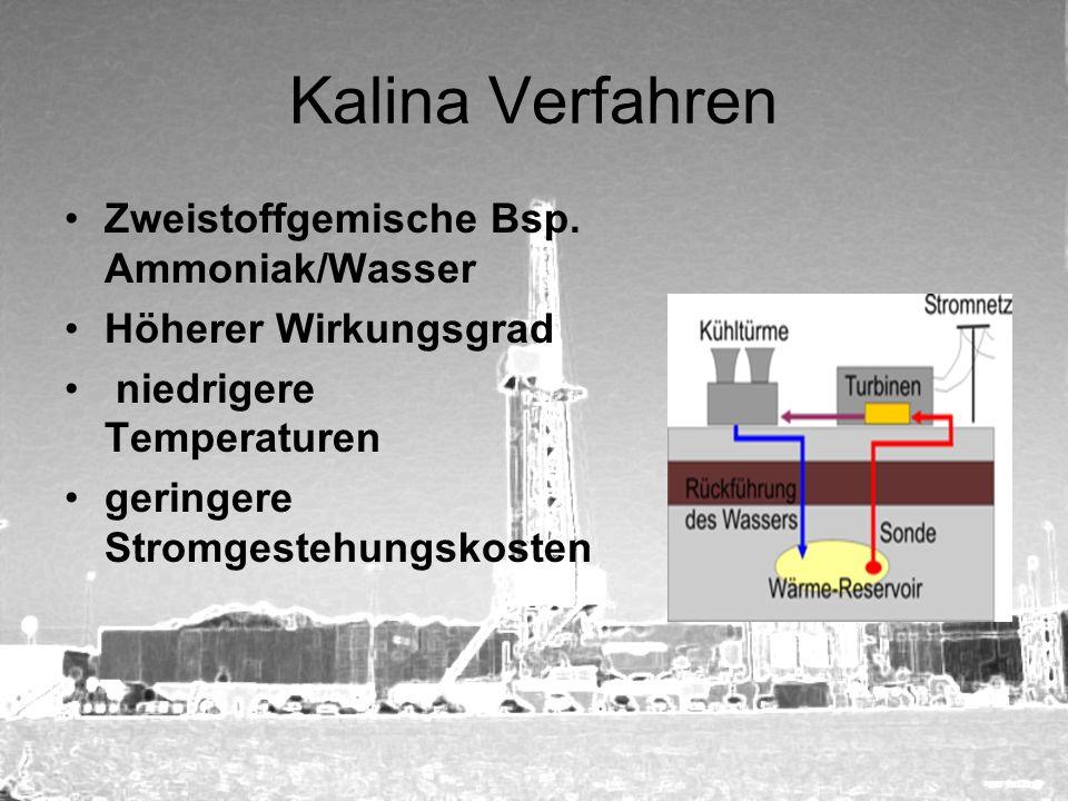 Kalina Verfahren Zweistoffgemische Bsp. Ammoniak/Wasser