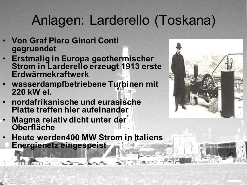 Anlagen: Larderello (Toskana)
