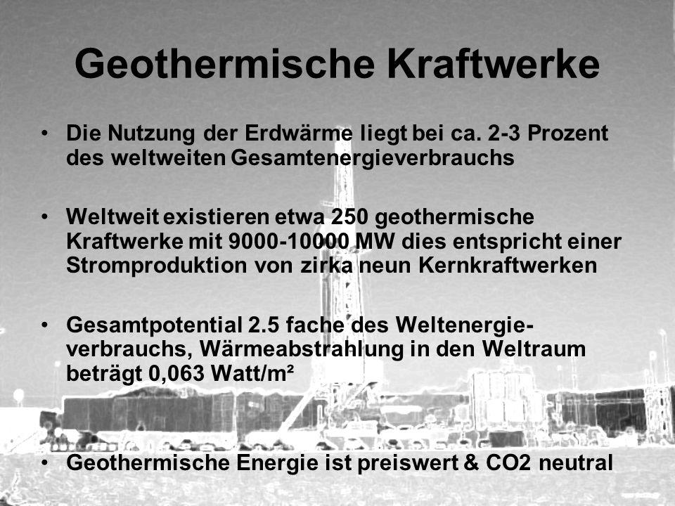 Geothermische Kraftwerke