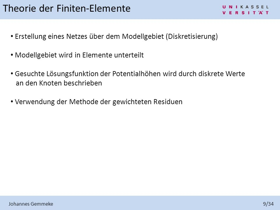 Institut f r geohydraulik und ingenieurhydrologie ppt for Finite elemente in der baustatik