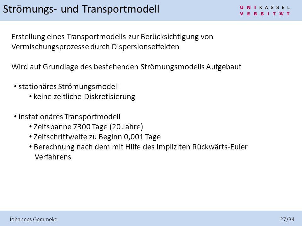 Strömungs- und Transportmodell