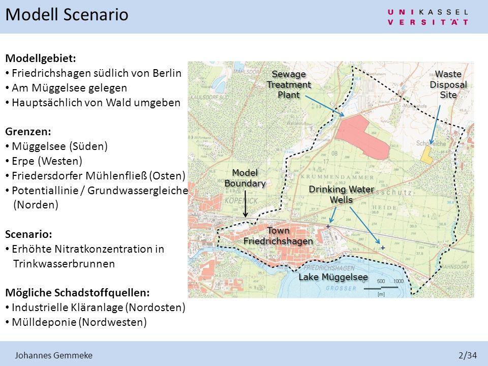 Modell Scenario Modellgebiet: Friedrichshagen südlich von Berlin