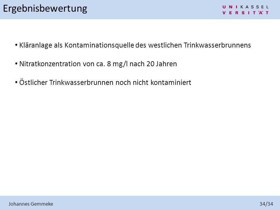 Johannes Gemmeke 34/34 Ergebnisbewertung.