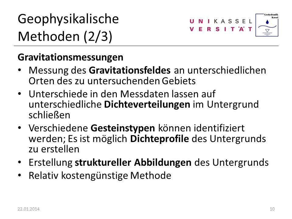 Geophysikalische Methoden (2/3)
