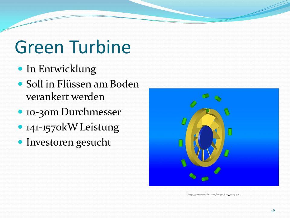Green Turbine In Entwicklung Soll in Flüssen am Boden verankert werden