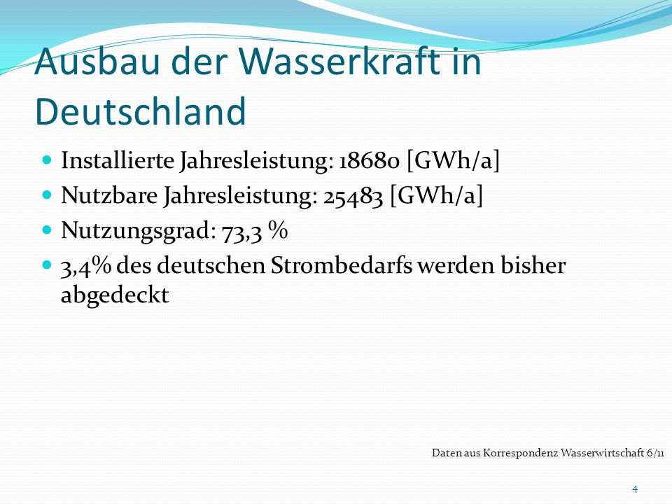 Ausbau der Wasserkraft in Deutschland