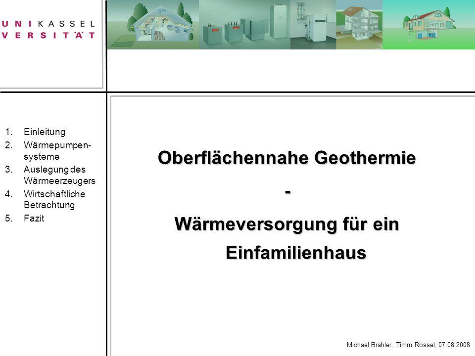 Oberflächennahe Geothermie Wärmeversorgung für ein Einfamilienhaus