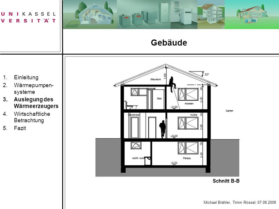 Gebäude Einleitung Wärmepumpen-systeme Auslegung des Wärmeerzeugers