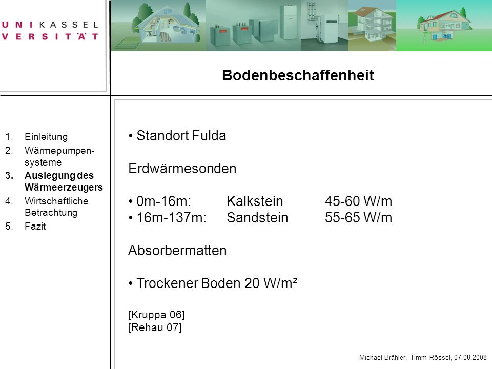 Bodenbeschaffenheit Standort Fulda Erdwärmesonden
