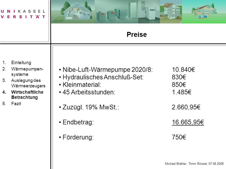 Preise Nibe-Luft-Wärmepumpe 2020/8: 10.840€