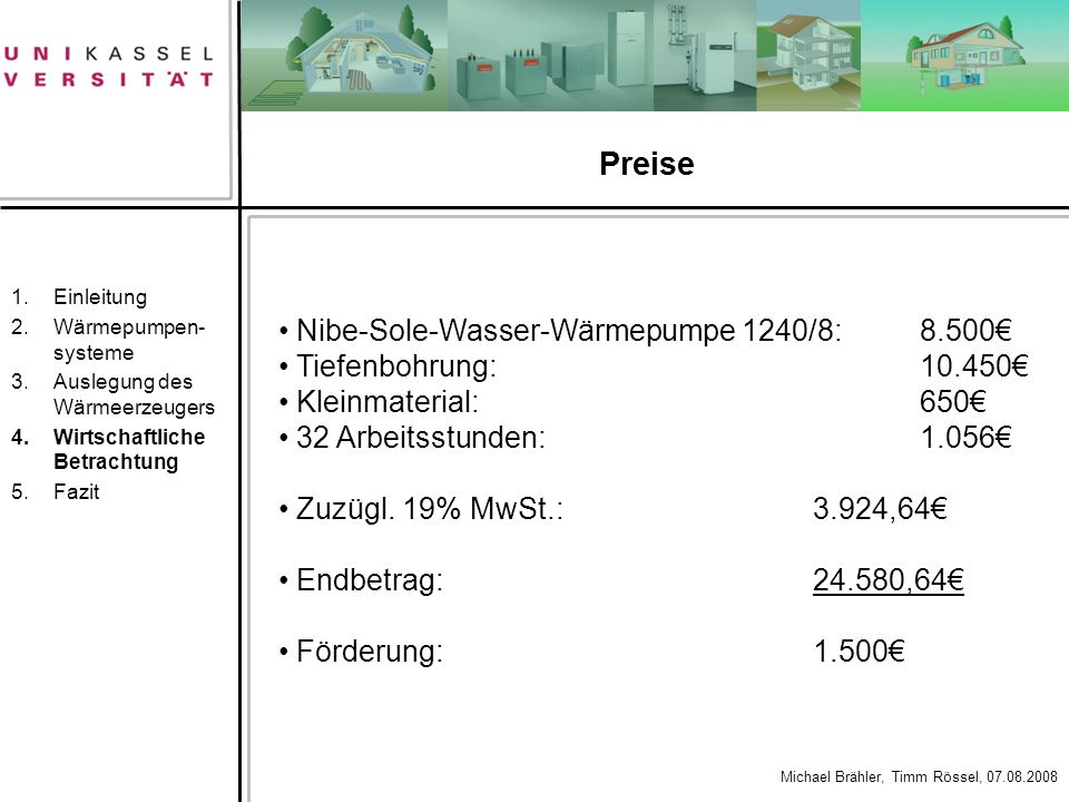 Preise Nibe-Sole-Wasser-Wärmepumpe 1240/8: 8.500€