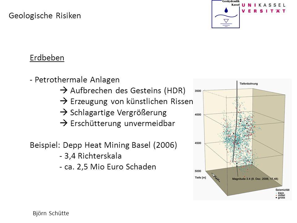 Petrothermale Anlagen  Aufbrechen des Gesteins (HDR)