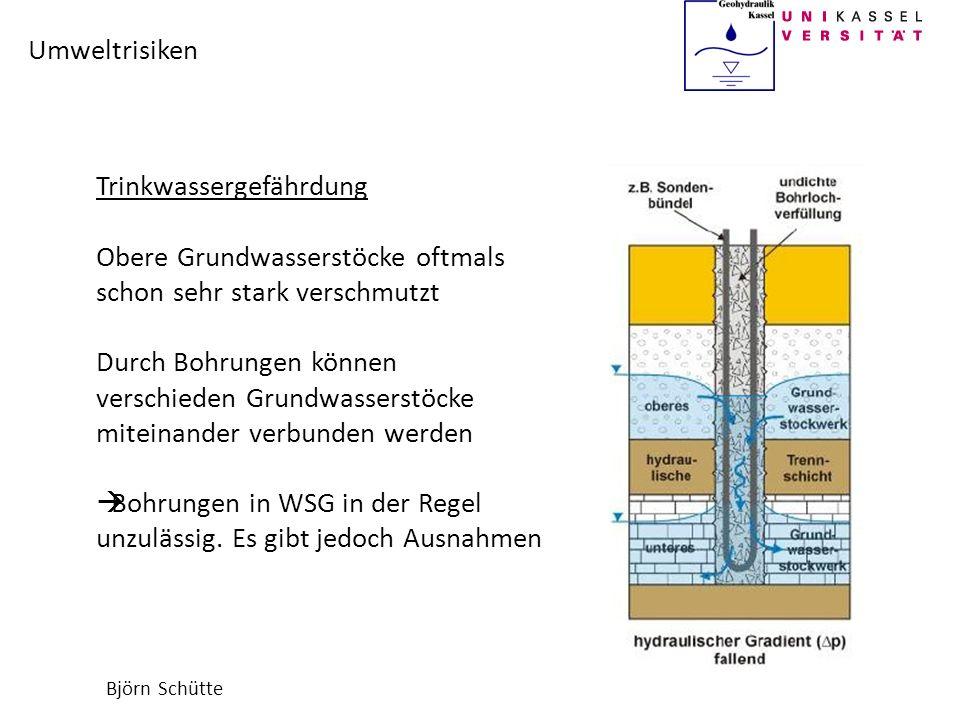 Trinkwassergefährdung Obere Grundwasserstöcke oftmals