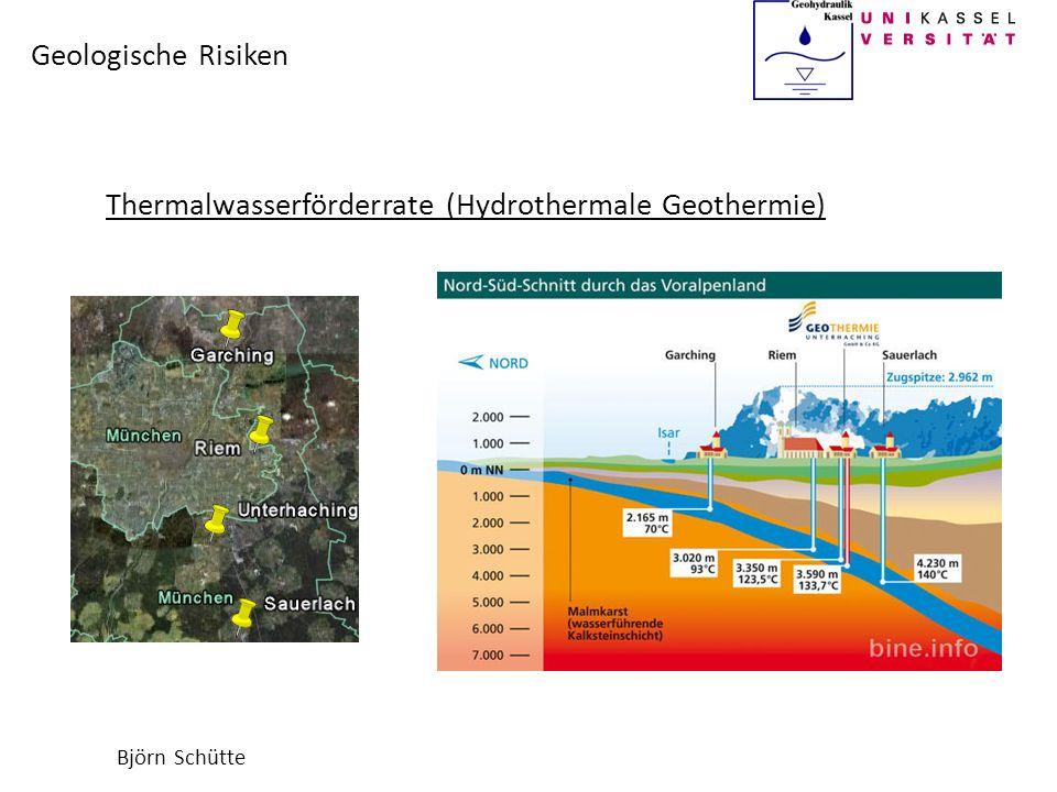 Thermalwasserförderrate (Hydrothermale Geothermie)