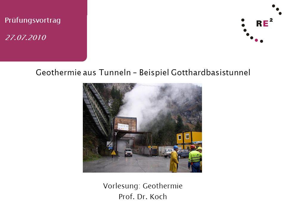 Geothermie aus Tunneln – Beispiel Gotthardbasistunnel