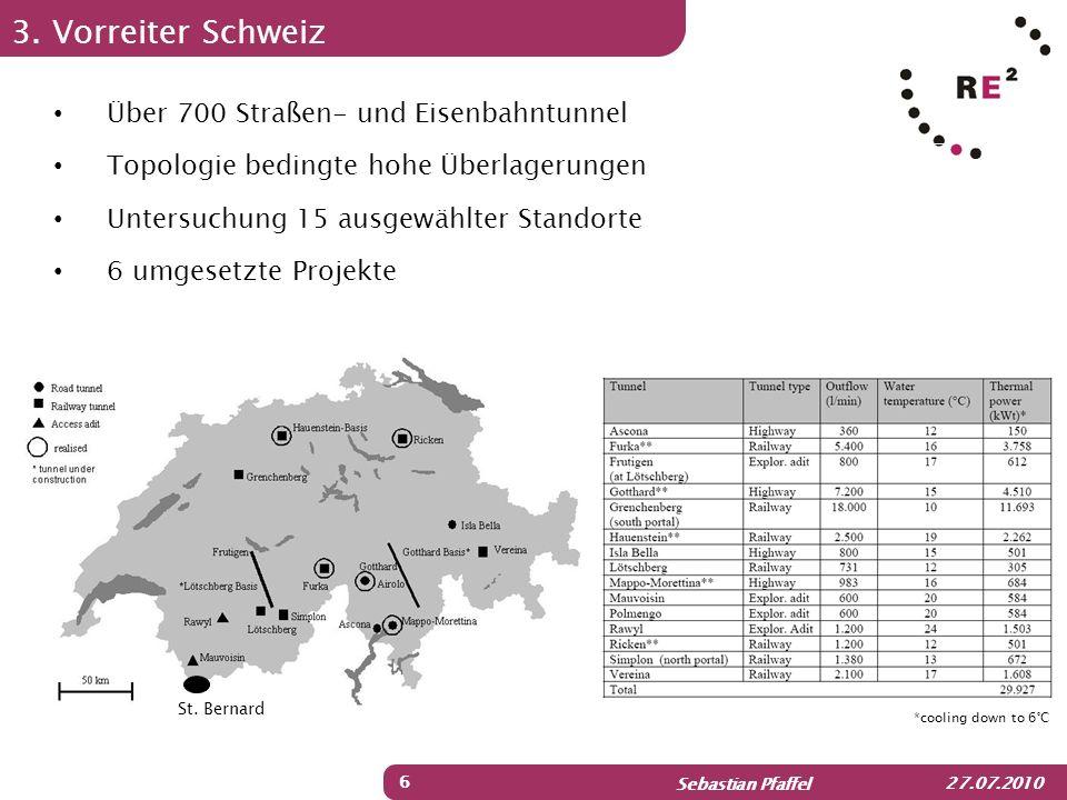 3. Vorreiter Schweiz Über 700 Straßen- und Eisenbahntunnel