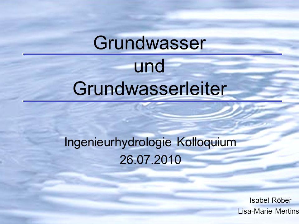 Grundwasser und Grundwasserleiter