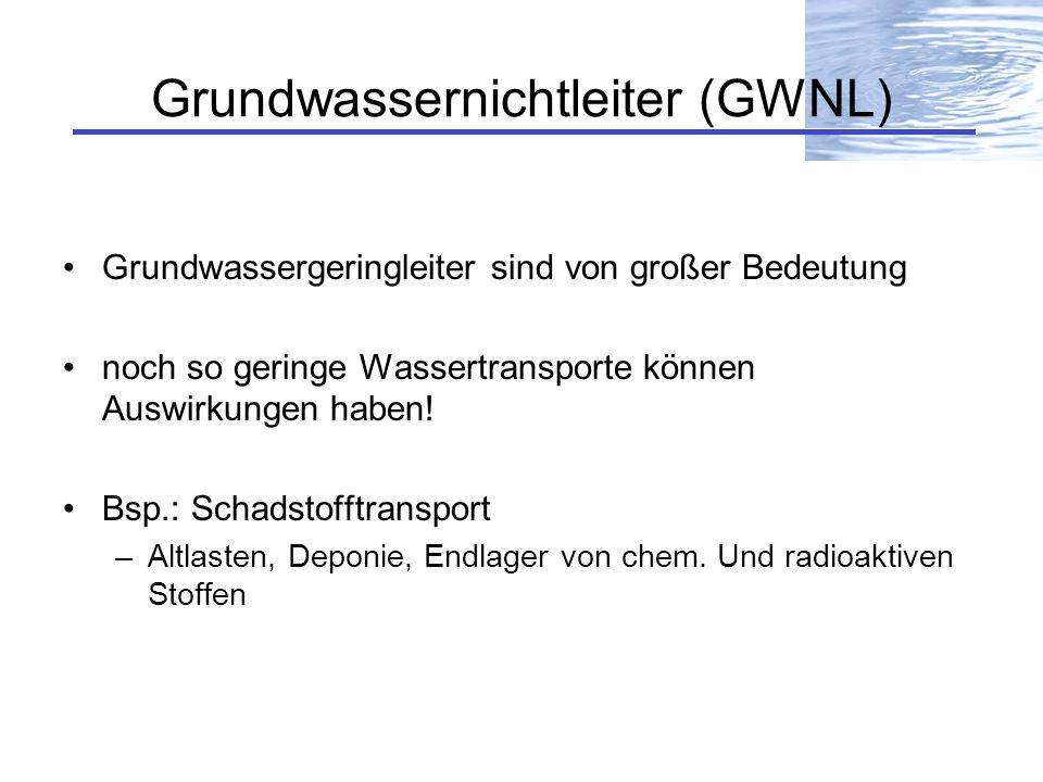 Grundwassernichtleiter (GWNL)