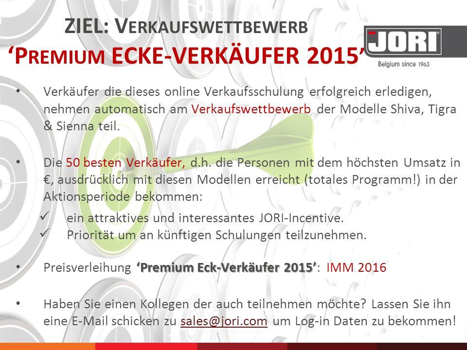 ZIEL: Verkaufswettbewerb 'Premium ECKE-VERKÄUFER 2015'